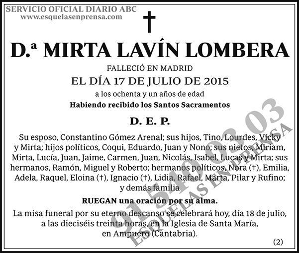 Mirta Lavín Lombera